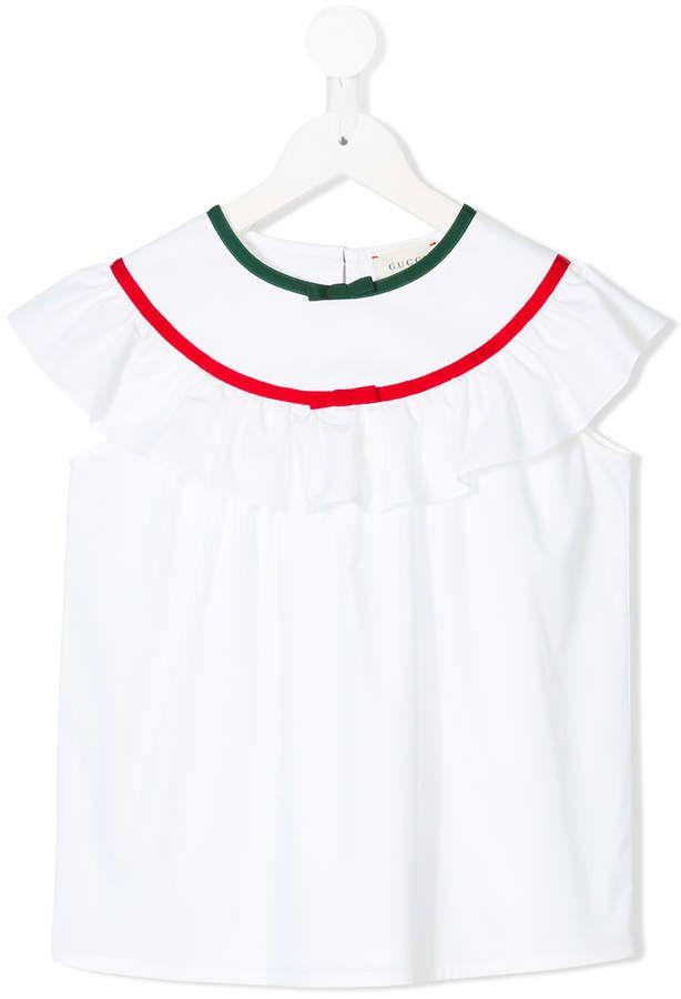 ce99464754070c Gucci Kids ruffled sleeveless blouse
