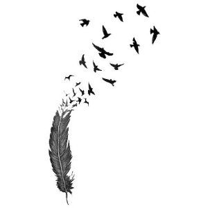"""I'm seriously thinking about doing this but turn it upside down and start it just below my hairline on the back of my neck with """"She flies with her own wings, to the stars through difficulty"""" in Cherokee script along the length of it or somewhere nearby."""