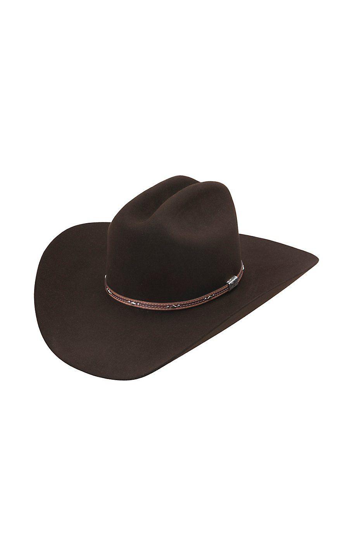 09c04fa4 Resistol 6X George Strait Kingman Chocolate Felt Cowboy Hat in 2019 ...