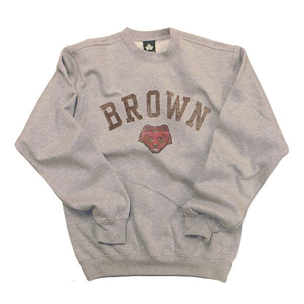70ea8d1465e6 Brown Team Vintage Sweatshirt (Heather Grey) in 2019