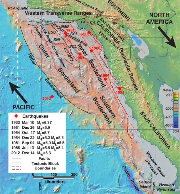Researchers Map Active Fault Zones off Southern California Coast 6