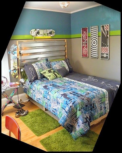 Wrestling Room Design: Sports Bedroom Decorating Ideas