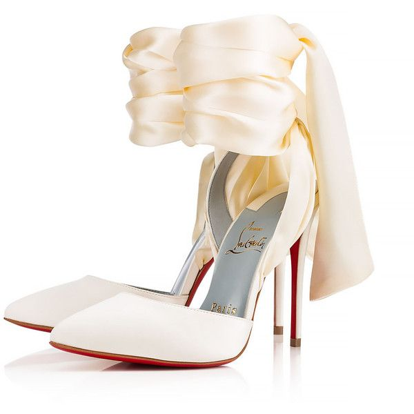 1196f5ffa325 Douce Du Desert 100 Off White Crepe satin Satin Lurex - Women Shoes -...  ( 895) ❤ liked on Polyvore featuring shoes