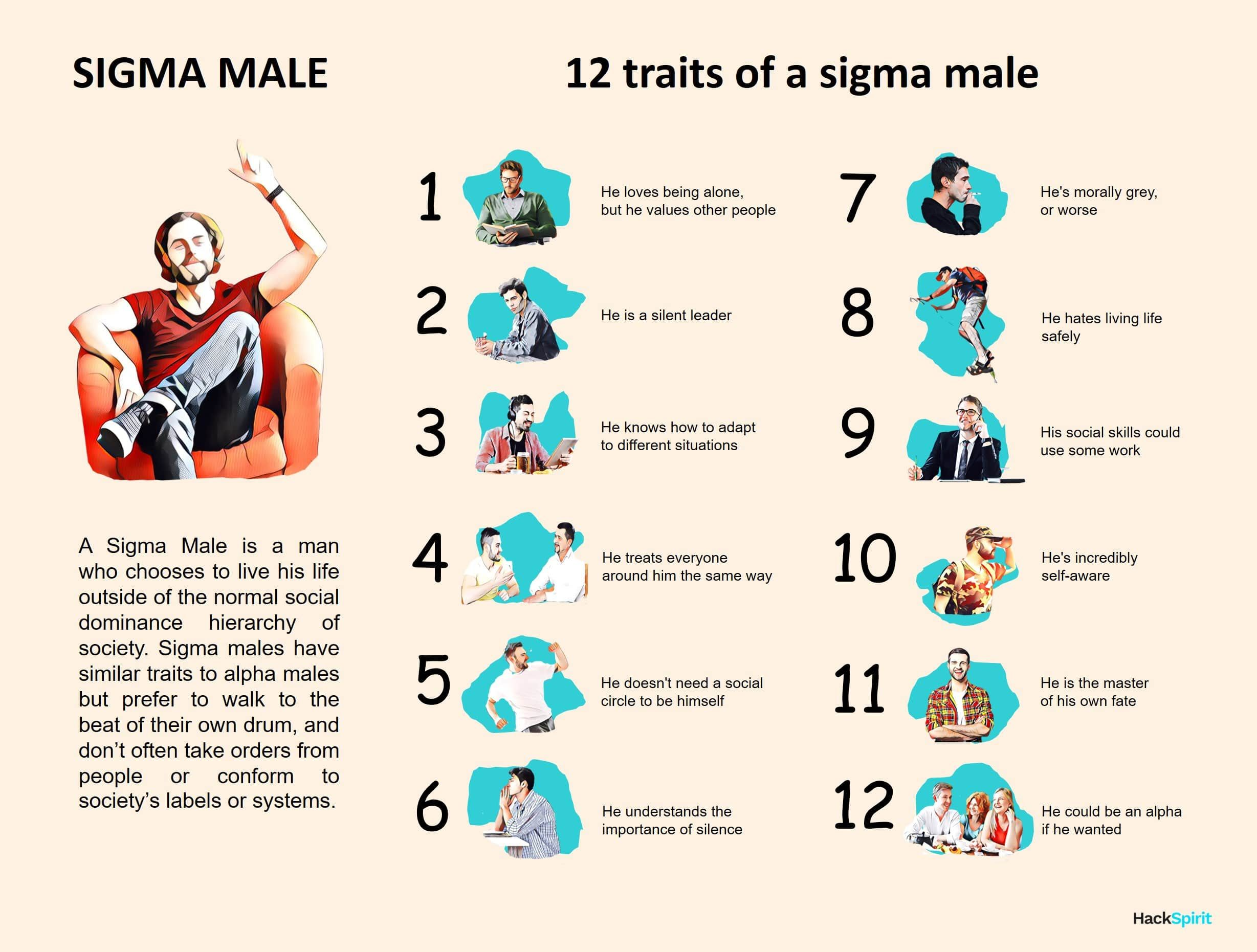 Male the sigma What's a