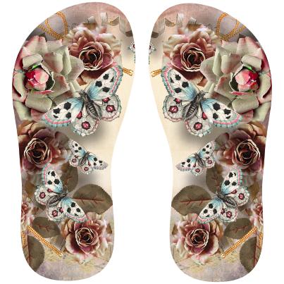 0975e2af8 Transfer sublimático para chinelo Floral 001449 | Chinelos | Sandals ...