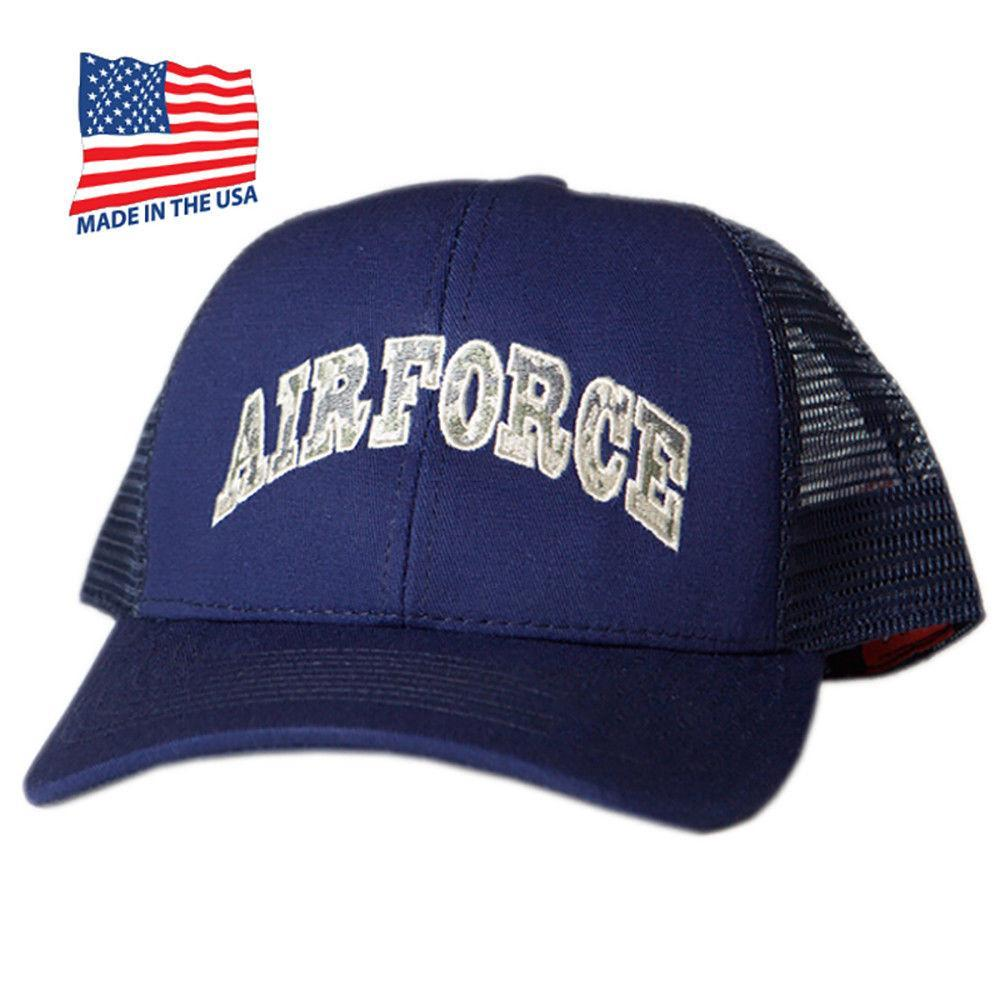65b35eb62f51c Made in USA US Honor Embroidered Air Force American Trucker Baseball Caps  Hats