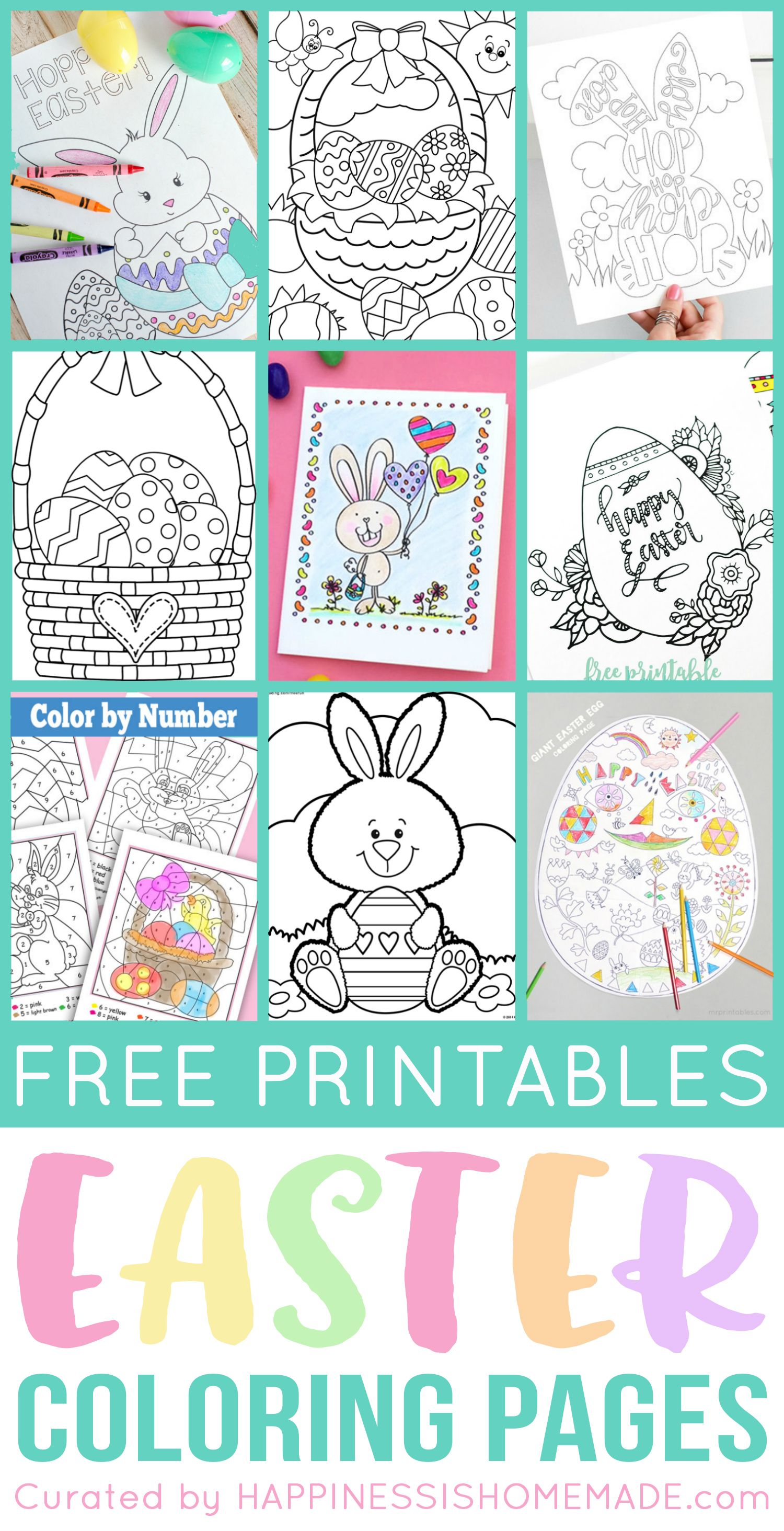 Free printable easter coloring pages are fun for kids of all ages