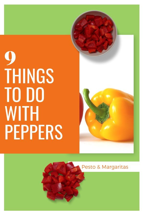 9 Things to Do with Peppers #bellpepperrecipes