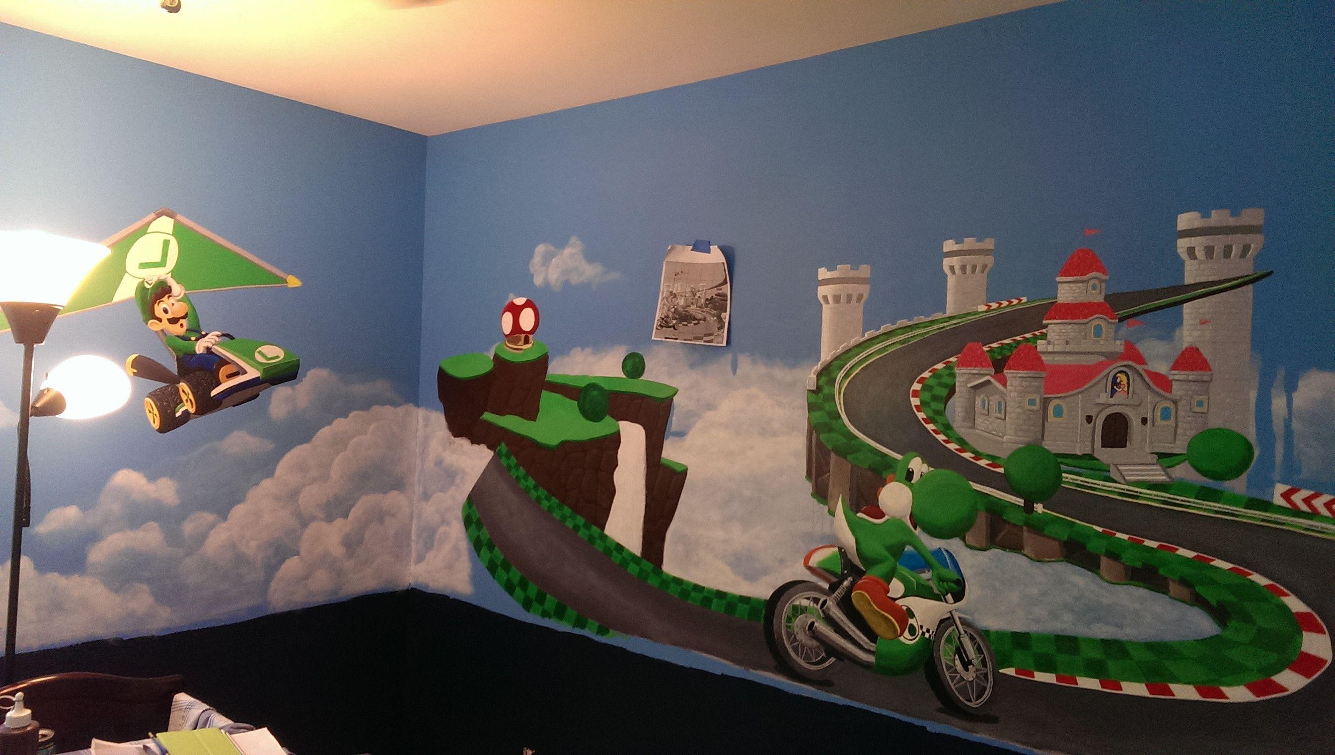 mario kart bedroom room decor - Google Search   Home design ideas ...