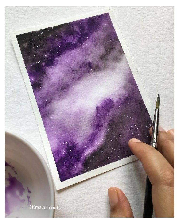 galaxy painting easy videos