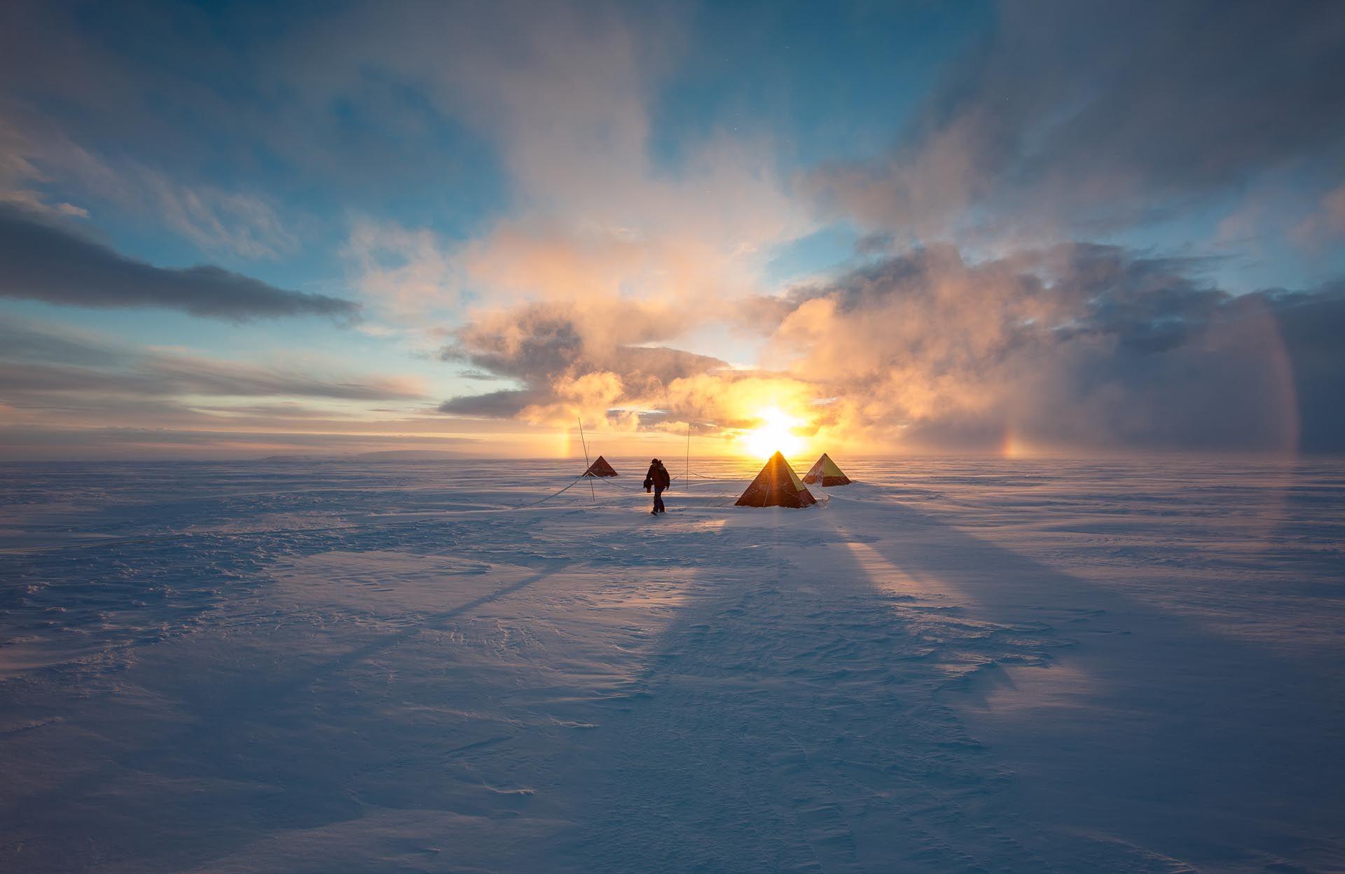 A field camp near Base Bernardo O'Higgins, Antarctica ...