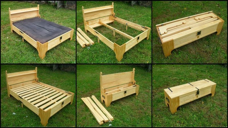 Bed in a box | Wood projects | Box bed, Wood beds, Diy bed