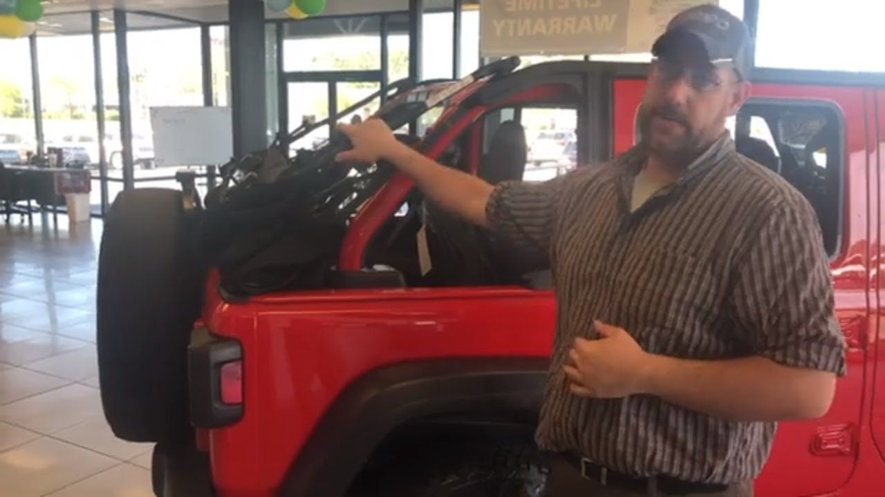 How To Remove Jeep Wrangler Soft Top Explained By Dealer Soft Tops Jeep Wrangler Soft Top Jeep Wrangler
