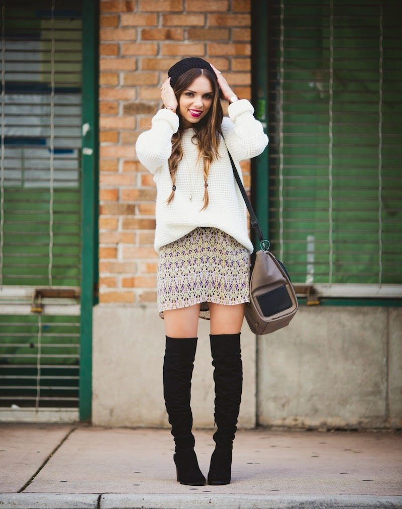 How to Wear Over-the-Knee Boots   Fall outfit ideas, Knitwear and ...