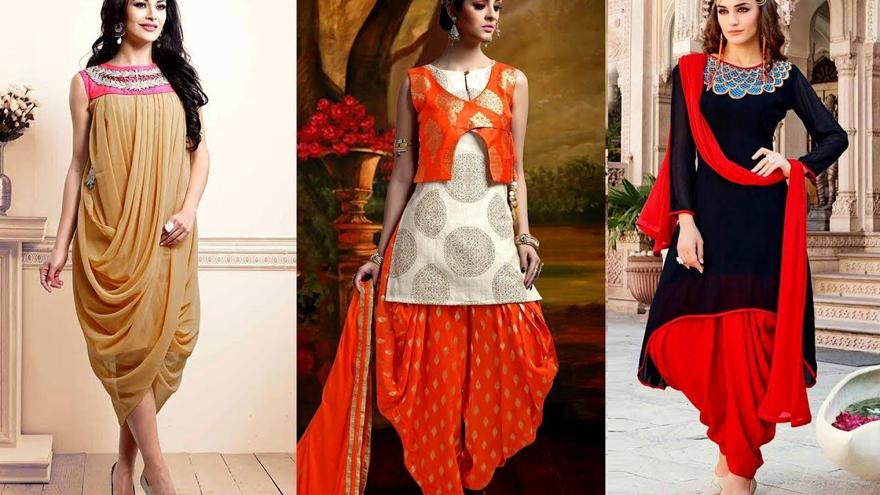 Latest Patiala Salwar Kameez Designs For Punjabi Girls -3440