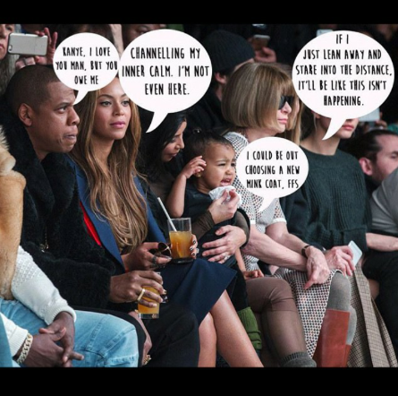 Beyonce Shares Her Feelings About North West After Crying Incident Kardashian Girls Anna Wintour Kanye Fashion