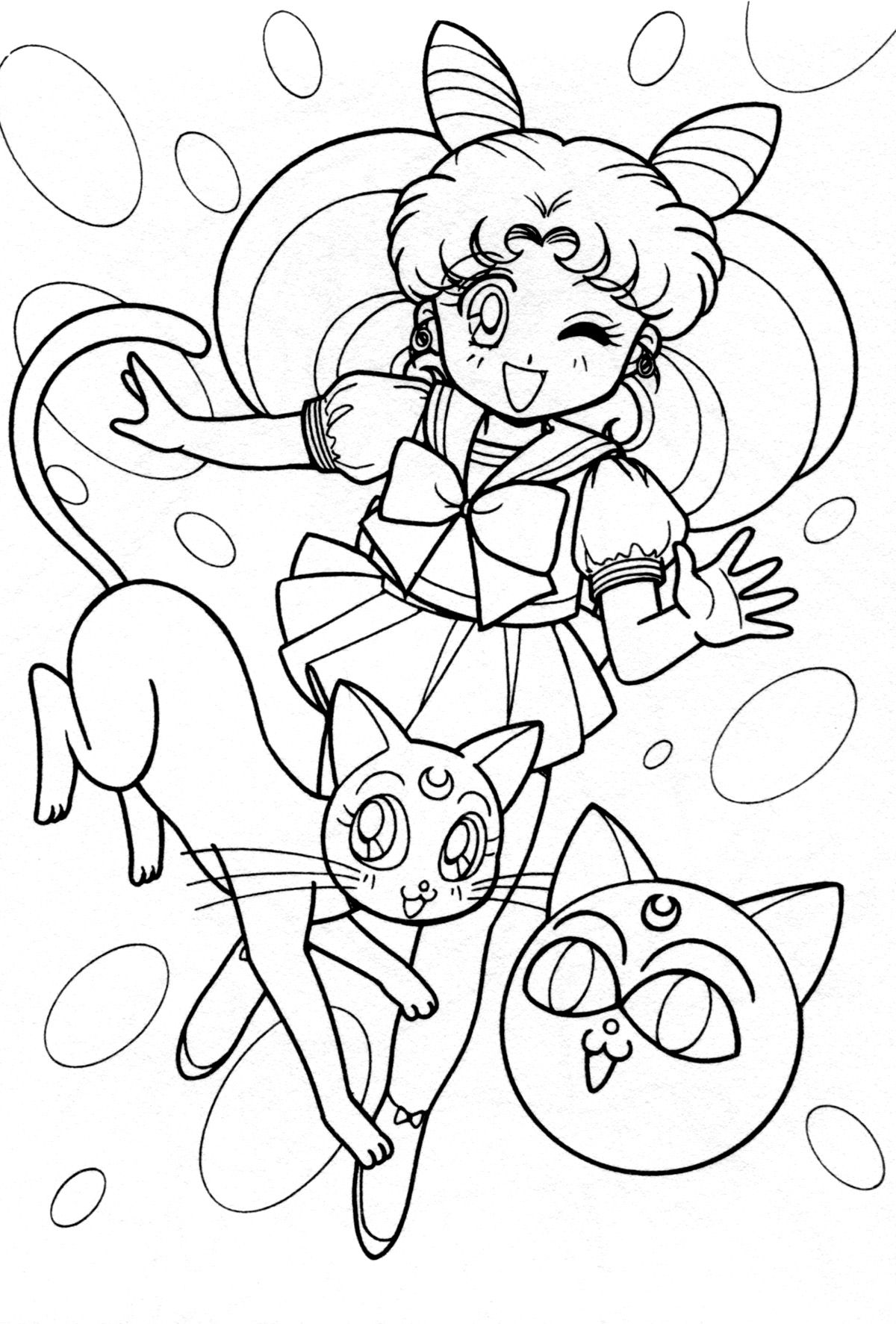 chibi010.jpg (1200×1773) | Coloring pages | Pinterest | Sailor and Moon