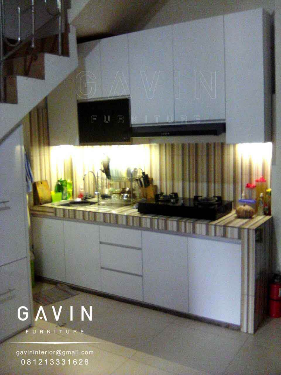 Pembuatan Lemari Dapur Dan Kitchen Set Custom Gavin Furniture Bawah Tangga Solusi Anda