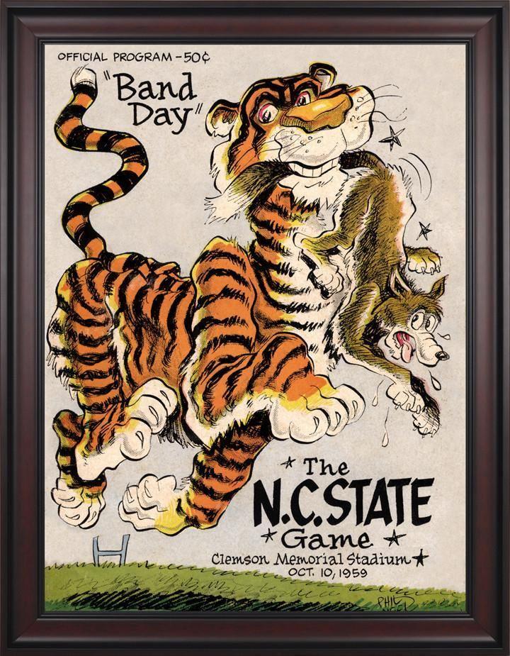 1959 clemson tigers vs north carolina state wolfpack 30 x