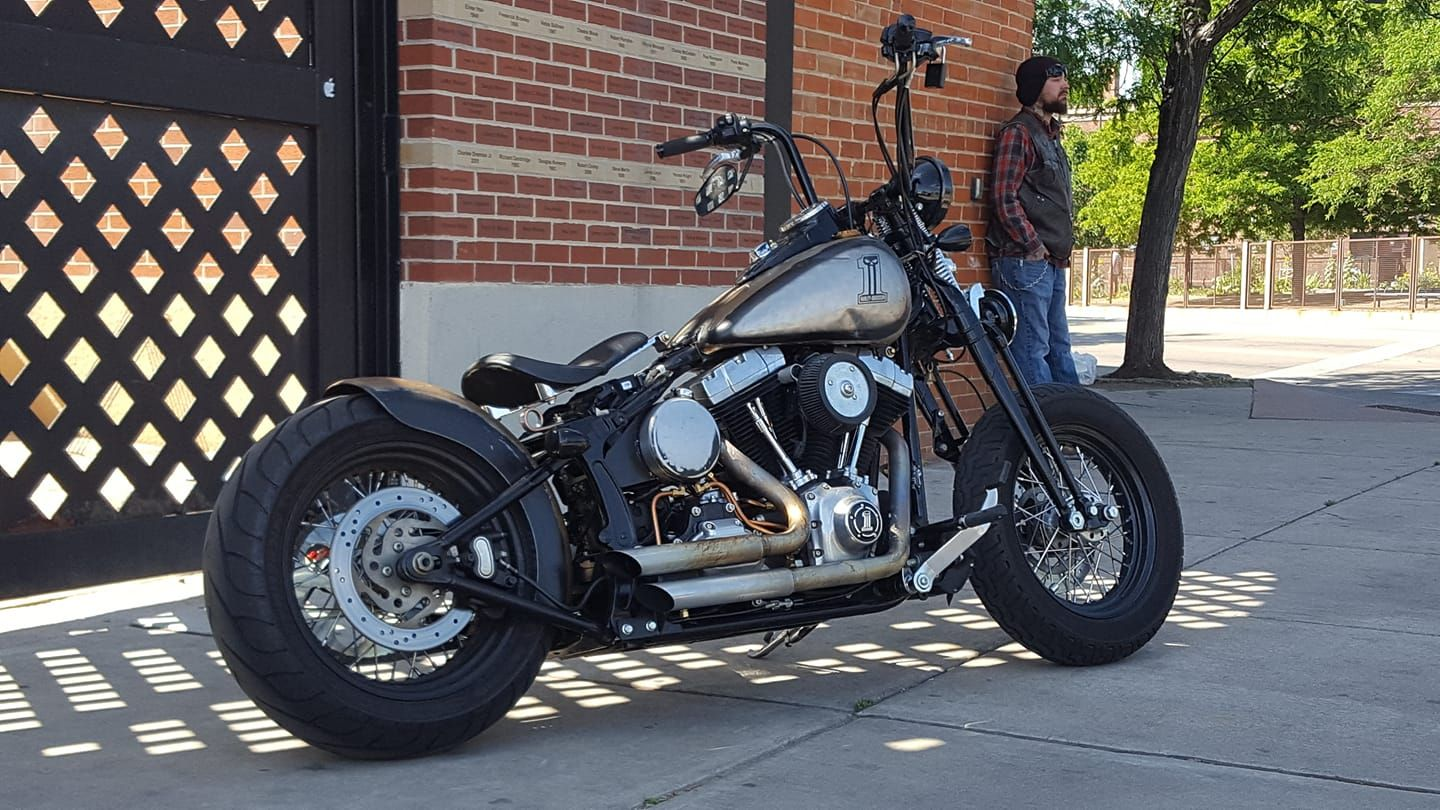 2010 Crossbones Heartland Rear Fender And Seat Custom Oil Tank And Lines Chain Conversion Stage 1 Motor Softail Harley Davidson Retro Nails [ 810 x 1440 Pixel ]