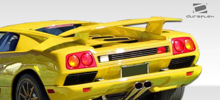 1992-2000 Lamborghini Diablo Duraflex 1.0 Look Wing Trunk Lid Spoiler - 1 Piece
