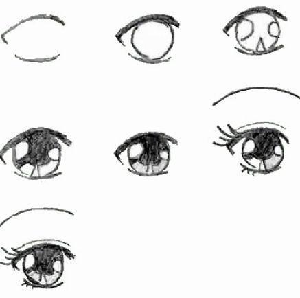 Рисовать аниме учимся поэтапно