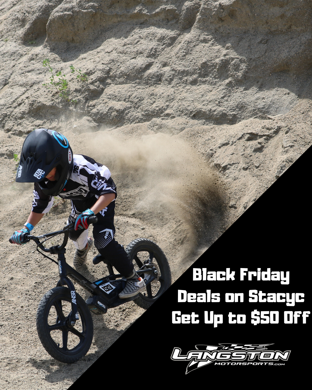 Up To 50 Off On Stacyc Balance Bikes Black Friday Sale From Nov 29 Dec 1 Come On In And Get Yours Langstonmotorspor Balance Bike Motorsport Black Friday