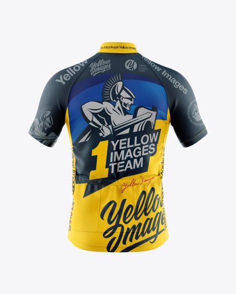 Download Download Men's Full-Zip Cycling Jersey Mockup - Back View ...