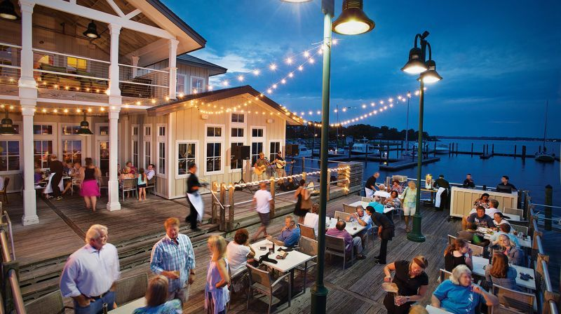 Persimmons Waterfront Restaurant Is Located On The Shores Of The