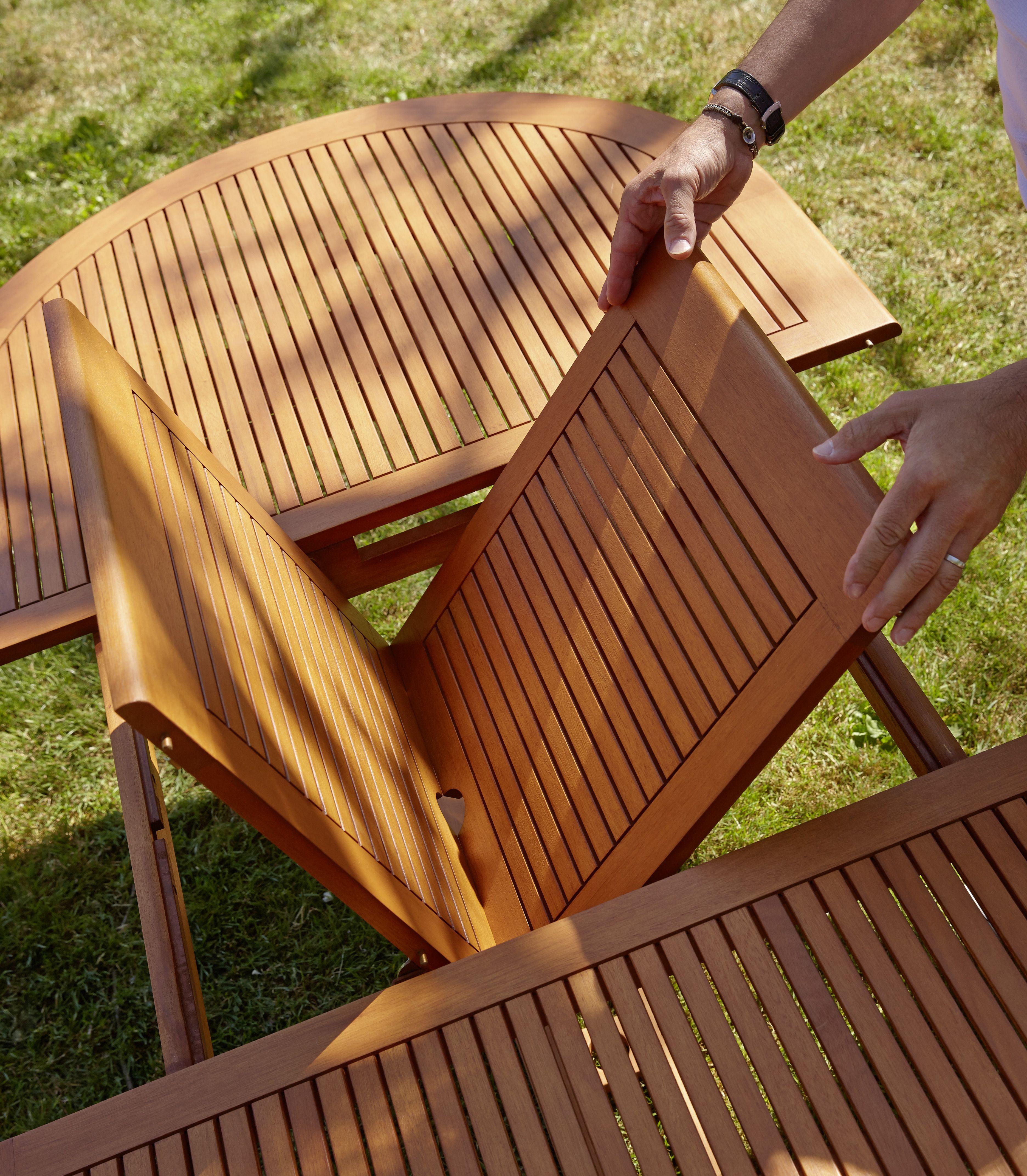 La Ligne Sumba Rapprochez Vous De La Nature 1 Table 6 Chaises Pliantes En Eucalyptus Fsc Finition Teinte Et Ambiance Jardin Mobilier Jardin Chaise Pliante