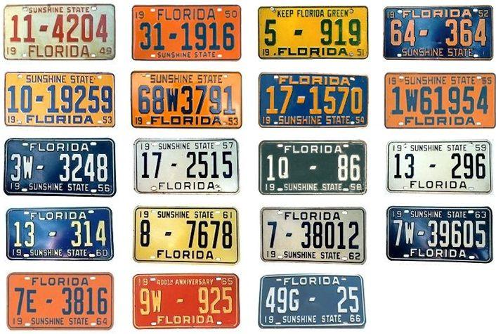 Florida Antique License Plate | Best 2000+ Antique decor ideas