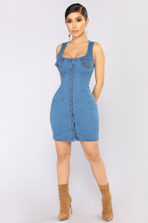 Denim Darlyn Mini Dress Medium Mini Dress Summer Dresses Fashion [ 1500 x 1000 Pixel ]