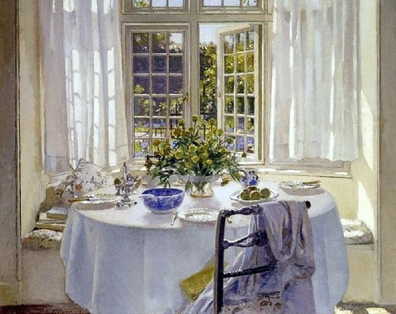 'The Morning Room' (1904) by Scottish painter Patrick William Adam (1854-1929). Noted for his paintings of interiors.