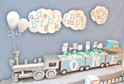 Train First Birthday 1st Parties