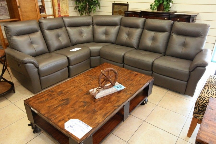 Htl 6 Pc Reclining Leather Sectional Colleen S Classic