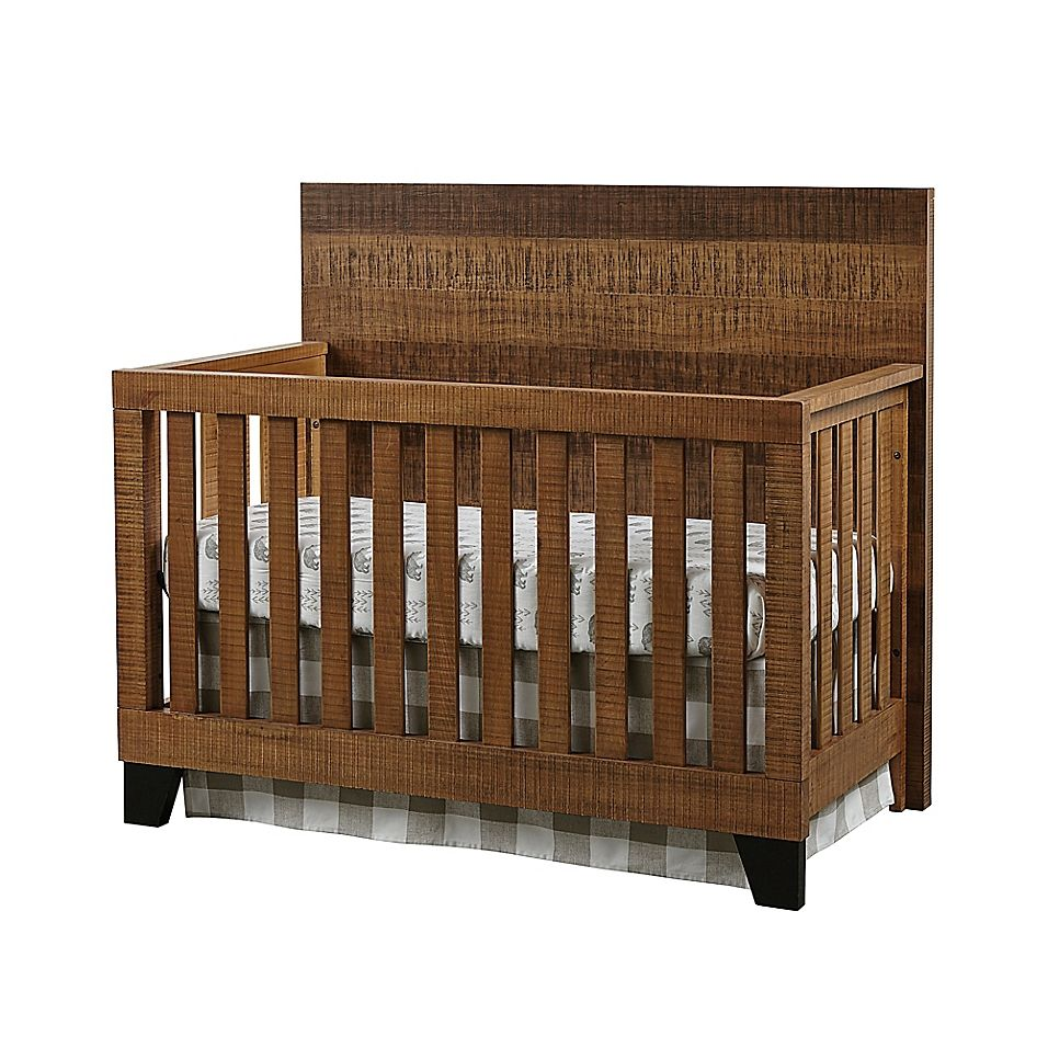 Westwood Design Urban Rustic 4 In 1 Convertible Crib In Wheat Interior Design Videos Cribs Rustic Nursery Furniture