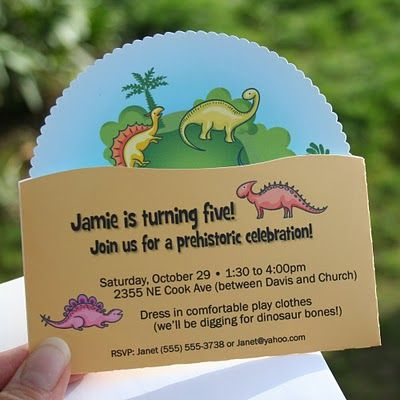 Molly Lee Cards Dinosaur Invitations Dino Party Inspiration