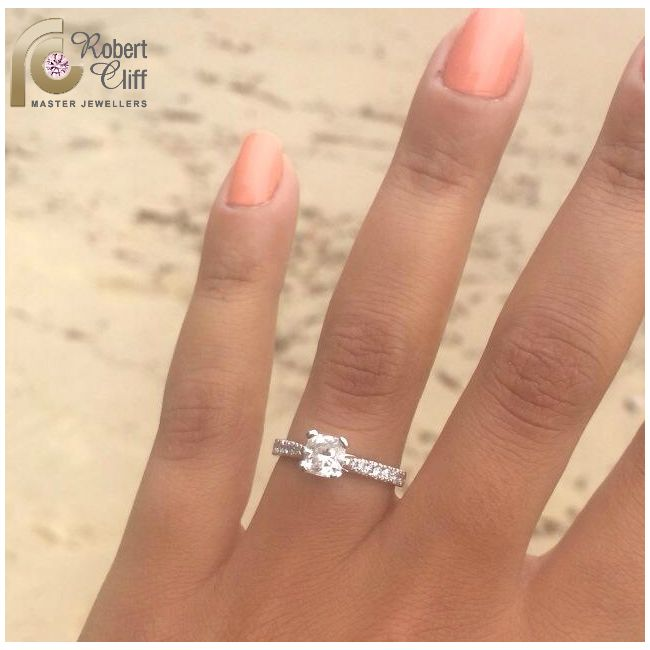 Another #happycustomer with a #customdesign #EngagementRing for a surprised #BrideToBe! #diamondsforever #diamonds