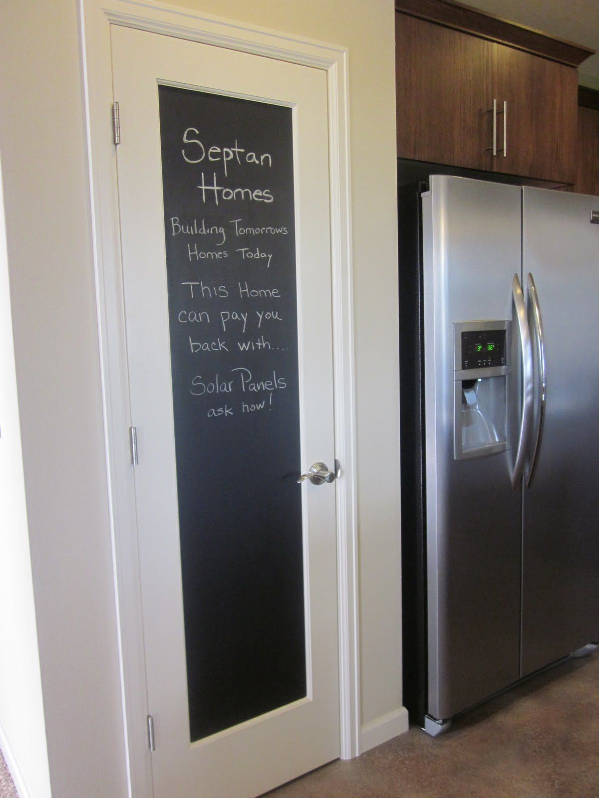 Amusing White Chalkboard Door Wooden Frames And Chrome