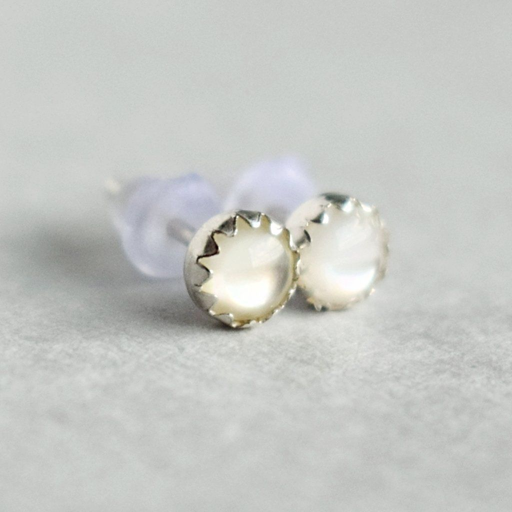 Mini Mother of Pearl Studs