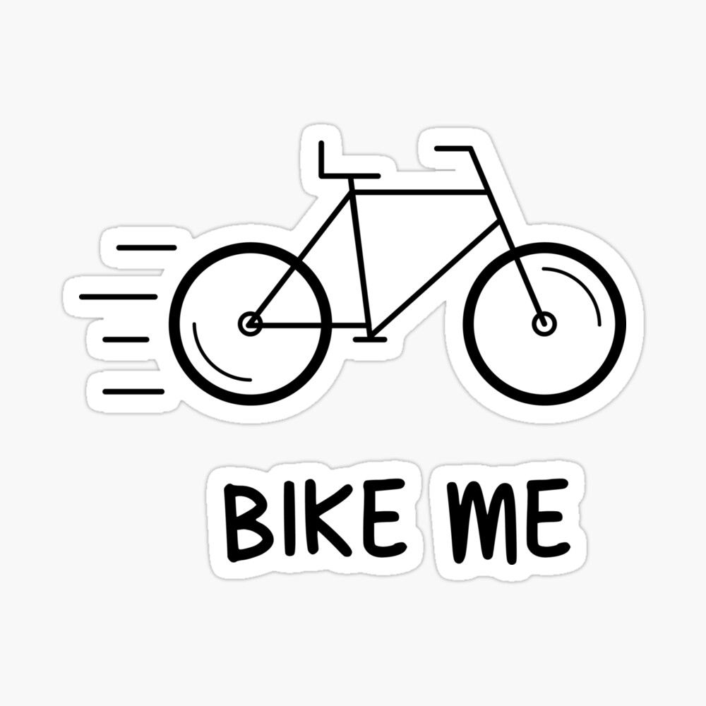 Bicycle Race Cycling With Funny Text Sticker By Blok45 Funny Texts Logo Sticker Cute Texts [ 1000 x 1000 Pixel ]
