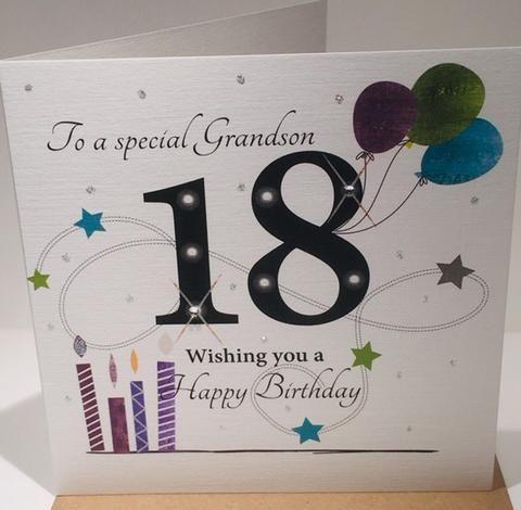 18th Birthday Card Grandson 18th Birthday Cards 18th Birthday Birthday Cards