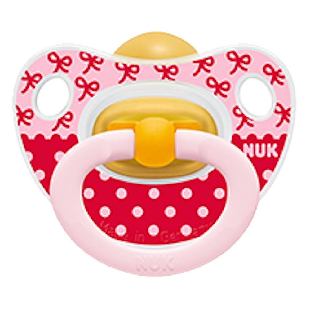 NUK Adore Baby Pacifier 6-18 Months Silicone Unisex Yellow Green Soother 8738-7