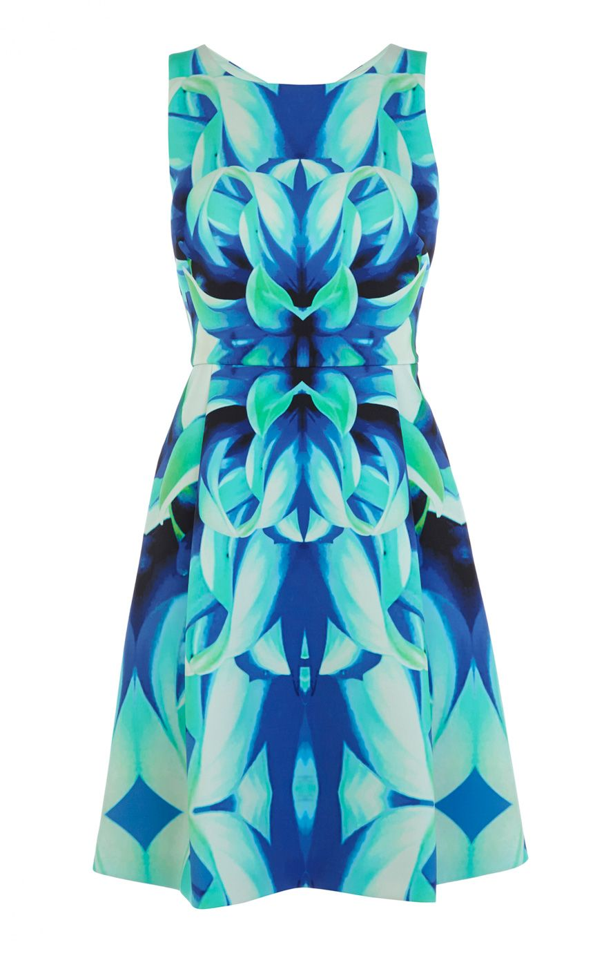 Bold floral print sculpted jersey dress | Luxury Women\'s brights ...