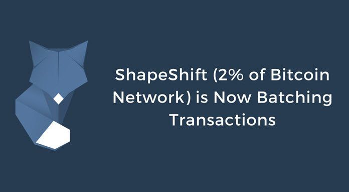 ShapeShift esta realizando transacciones de Bitcoin en lotes