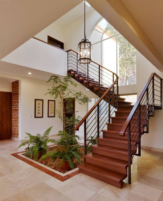 escalera  Pasillos, vestíbulos y escaleras coloniales de Excelencia - Diseo De Escaleras Interiores