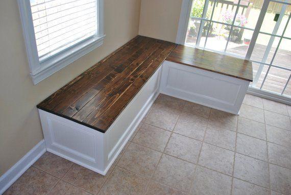Corner bench, kitchen seating, L shaped bench FREE SHIPPING...!!!!!