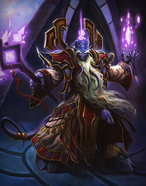 Prophet Velen resides at the Temple of Karabor, sculpted between the great expanse of the sea and the dusky plains of Shadowmoon Valley. In the glimmering skies above, the moons hang among a curtain of stars, blanketing the land in an ethereal twilight.