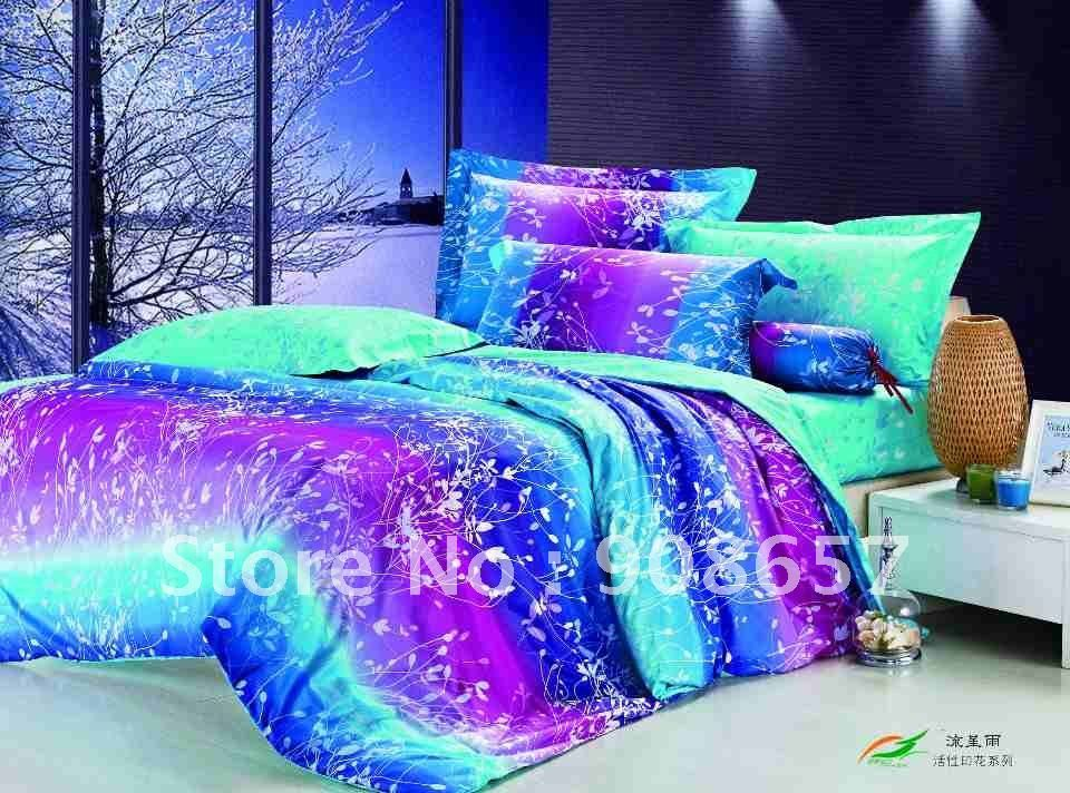 Pretty Bed That Glows 2 Girl Comforters Purple Bedding Teal Bedding