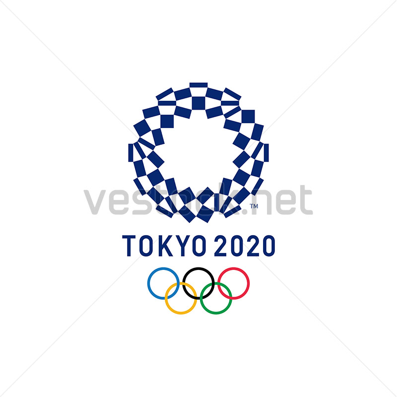 Tokyo 2020 Olympics Logo Vector Free Download Vestock